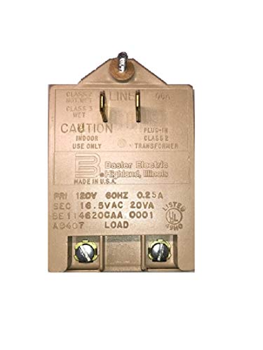 Basler Electric Alarm System Transformer 16.5 VAC 20va Compatible with DSC, Honeywell, Ademco, Etc. Made in The USA UL Listed