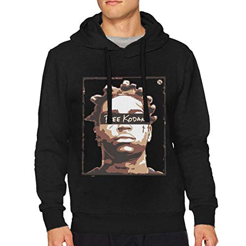 Man's Kodak Black Free Kodak Classic Music Band Long Sleeves Hoodie Sweatshirt Black L Gift