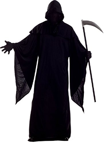 Fancy Horror Robe Evil Death Dark Gothic Priest Halloween Adult Costume (Judge Robes Costume)
