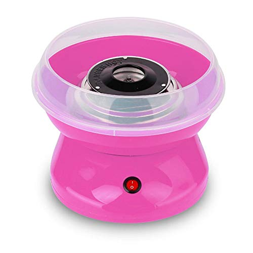 WXLAA Cotton Candy Machine Commercial Electric Hard Sugar-Free Candy Party Floss Maker Homemade Kit Pink-110V US Plug]()