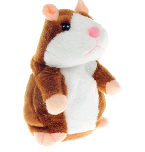 SEALEN Cute Talking Hamster Repeats What You Say, Electronic Pet Mimicry Hamster Nod Head and Talking Plush Toy Buddy Mouse Children's Day Gift for Kids