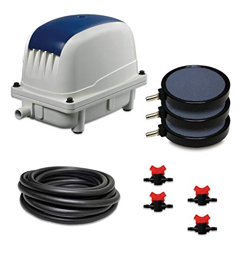 Lifeline LL-80K - Subsurface Aeration System with 3.0 Cubic Feet per Minute Air Pump, 50' Weighted Tubing, (3) 8
