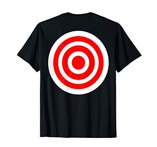 Target T Shirt funny printed on the back bulls eye gift tee