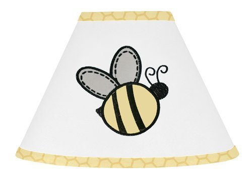 Sweet Jojo Designs Yellow and White Lamp Shade for Honey Bumble Bee Bedding Collection