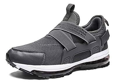 TSIODFO Men air Cushion mesh Breathable Sport Running Tennis Walking Shoes Black Size: 6.5