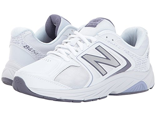スカイ例アクロバット(ニューバランス) New Balance レディースウォーキングシューズ?靴 WW847v3 White/Grey 6 (23cm) EE - Extra Wide