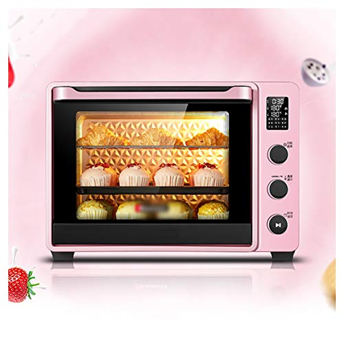 Ho,ney Ovens-Mini Oven Electric Grill,Timer Rack-Small Enough For Table Top Use - 1800W (Pink) With Fast Heating Toaster Ovens -842Toaster Ovens