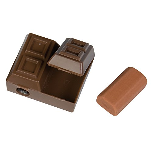 Raymond Geddes Chocolate Bar Sharpener with Scented Eraser 24/Bag Pencil Sharpner (70469)