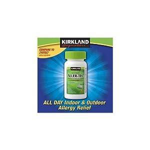 Kirkland Signature Aller-Tec Cetirizine HCL 10 mg/Antihistamine Tablets365-tablets Bottle Personal Healthcare / Health Care