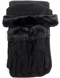 Cloche Fur Trim 3 Piece Fleece Hat, Scarf & Glove Women's Winter Set