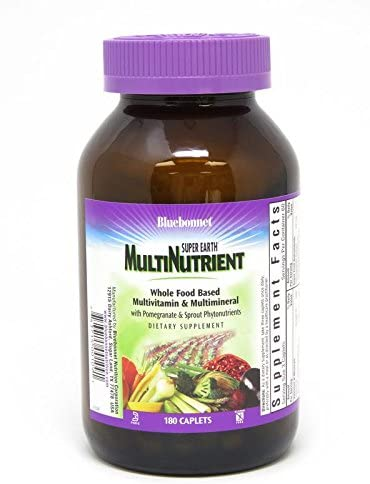 Bluebonnet Super Earth Multi-Nutrient Formula Iron Caplets, 180Count