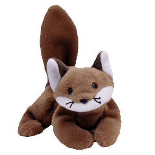 (TY Beanie Baby - SLY the Fox (Brown Belly Version - 4th Gen Hang tag) (8 inch) * Creased Tag *)