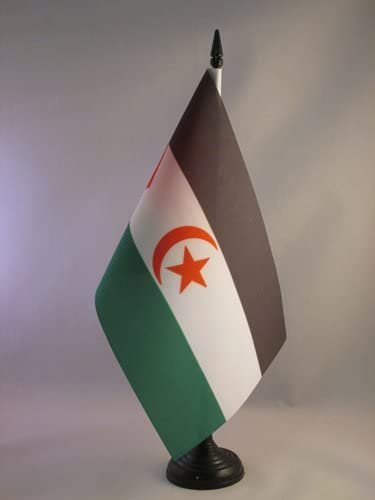 AZ FLAG Bandera de Mesa de Sahara Occidental 21x14cm - BANDERINA ...