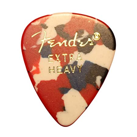 24 p/úas de confeti de calibre medio 351 en una pr/áctica lata Fender Classic p/úas de celuloide para guitarra