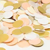 Mybbshower Peach Gold Ivory Table Confetti for Wedding Party Pack of 4000