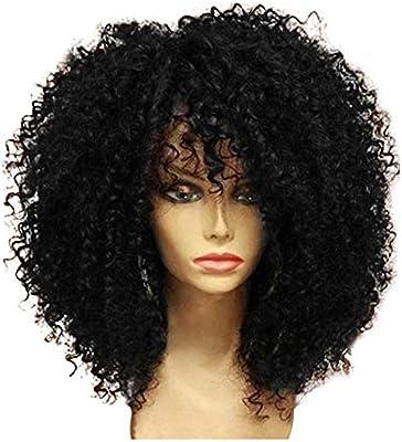 Amazon.com: YLWIG Afro Kinky Peluca rizada para mujeres ...