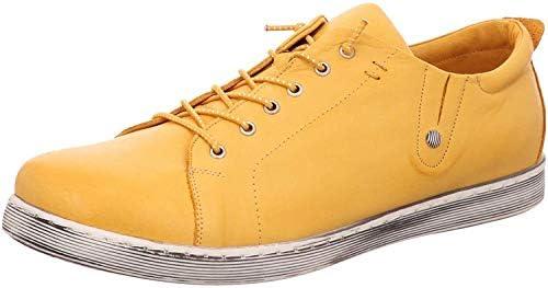 Andrea Conti Women's Low-Top Sneakers, Yellow Ocker 116, 5 UK