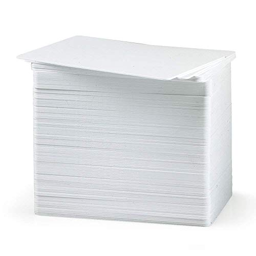 Premium Blank White PVC Cards, 30 Mil, CR80 (Credit Card Size), Printable (Pack of 100) ()