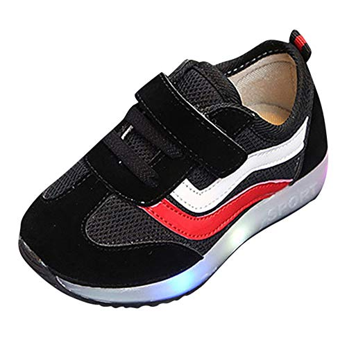 - HYIRI Running Sneaker,Children Baby Girls Boys Striped Mesh Led Luminous Sport Shoes