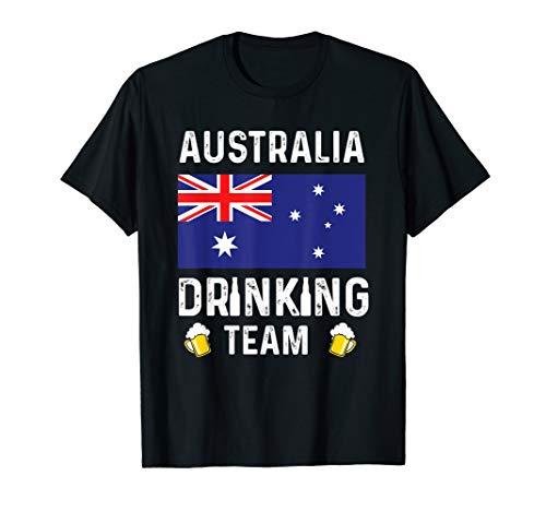 Australia Drinking Team T-shirt Australia Beer Lovers Tshirt