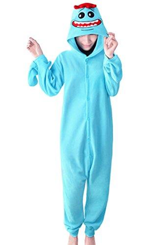 Lifeye Adult Rick Pajamas Anime Cosplay Costume Blue ()
