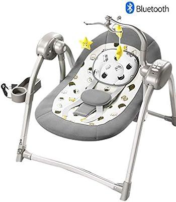 Columpio for bebé eléctrico, silla bebé gorila, de 5 velocidades ...