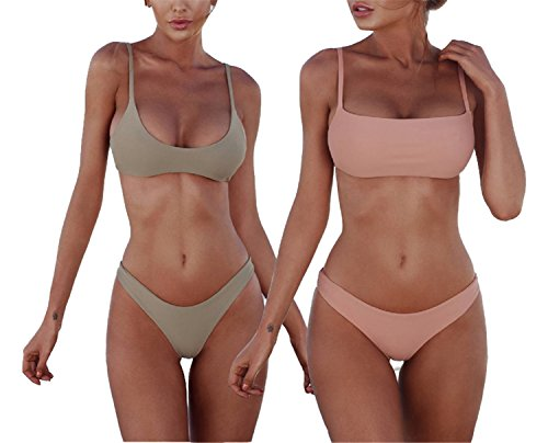 Popular 2018 Swimsuit color Bikini Wear Summer Solid Swimwear Beach pictures Bikini S as Set Female Suit Such Women sexy Brazilian Bathing ngarF6nA