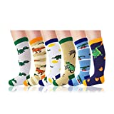 Deer Mum Boy's Cartoon Dinosaur Pattern Knee High Socks