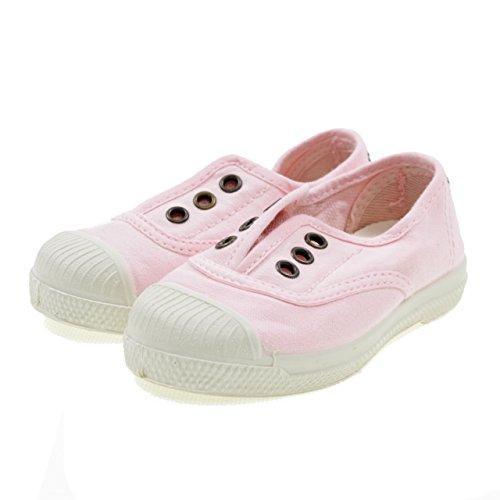 Natural World Zapatos DE Algodón Fondo Caucho 470541 Rosa Rosa