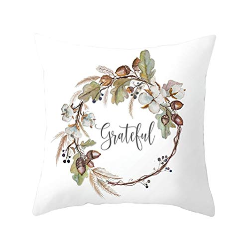 DEESEE(TM)Halloween Pillowcase Decorative Letter Upholstery Cushion Linen (E)