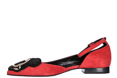 Ballet Flats red Master Women's of Arts Ballerinas Suede Moa fx6HqXYf
