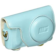 """MegaGear """"Ever Ready"""" Protective Leather Camera Case, Bag for Samsung NX Mini with 9mm Lens Kit (Blue)"""