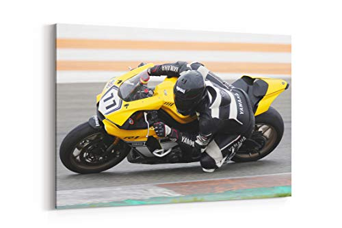 Used, Motorbike Yamaha R1 and Super Bike - Canvas Wall Art for sale  Delivered anywhere in USA