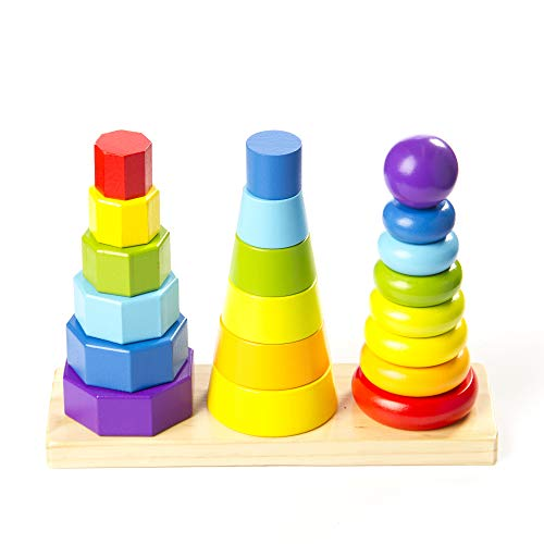 Fat Brain Toys Shape Tower - GeoPeg Stacking Tower