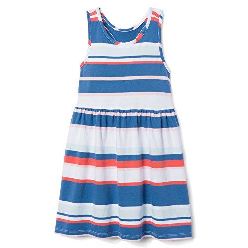 Dress Girls Gymboree - Gymboree Girls' Little Sleeveless Casual Knit Dress, Tidal Blue Stripe, M