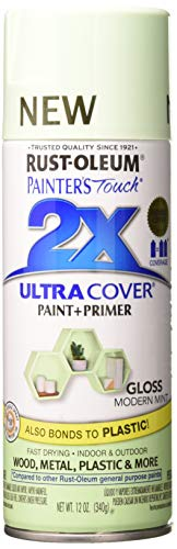 Rust-Oleum 329200 Painter's Touch Multi Purpose Spray Paint, 12 oz, Modern Mint (Best Mint Green Paint)