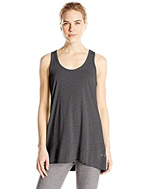 Performance Women's Keyhole Back Tank Shirt Charcoal
