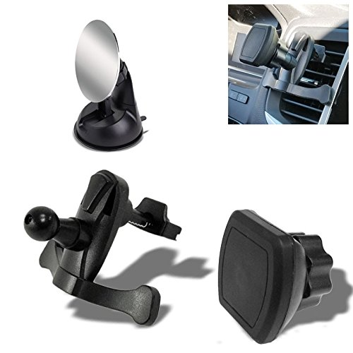 TYA-E03 Universal Clip Air Vent Magnetic Adjust Angle TYA Line Car/SUV/Truck Mount Holder Stand Bracket Cradle For Smartphone Cell Phone GPS+TYBS72-85MM 85mm Diameter View Rear View Blind Spot Mirrors - Diameter Blind Spot
