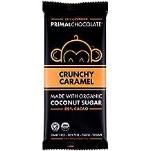 Eating Evolved - Organic Primal Chocolate, Crunchy Caramel, 85% Cacao, 2.5 oz Bar (8 count)