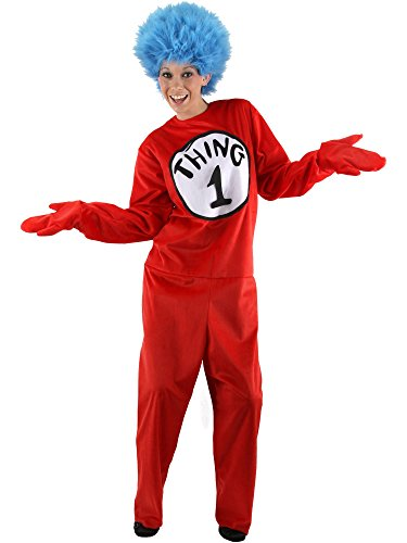 [Cat in the Hat Thing 1 & Thing 2 Deluxe Costume - Large/XL - Chest Size 46-48] (Thing 1 Thing 2 Halloween Costumes)