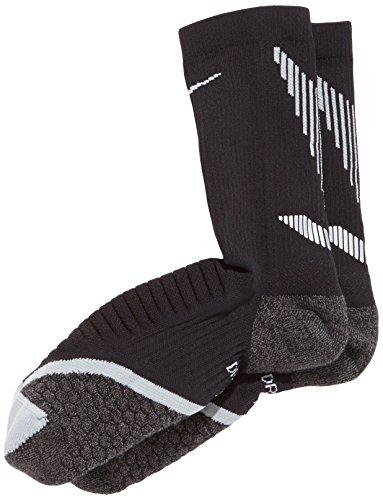 Nike Elite Cushioned Crew Running Socks, Black, Size 14-16