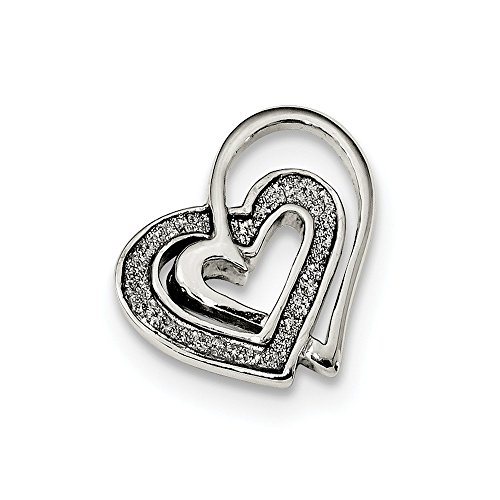 925 Sterling Silver Hearts Necklace Chain Slide Pendant Charm Omega Love Multiple Fine Jewelry Gifts For Women For Her (Slide Omega Heart)