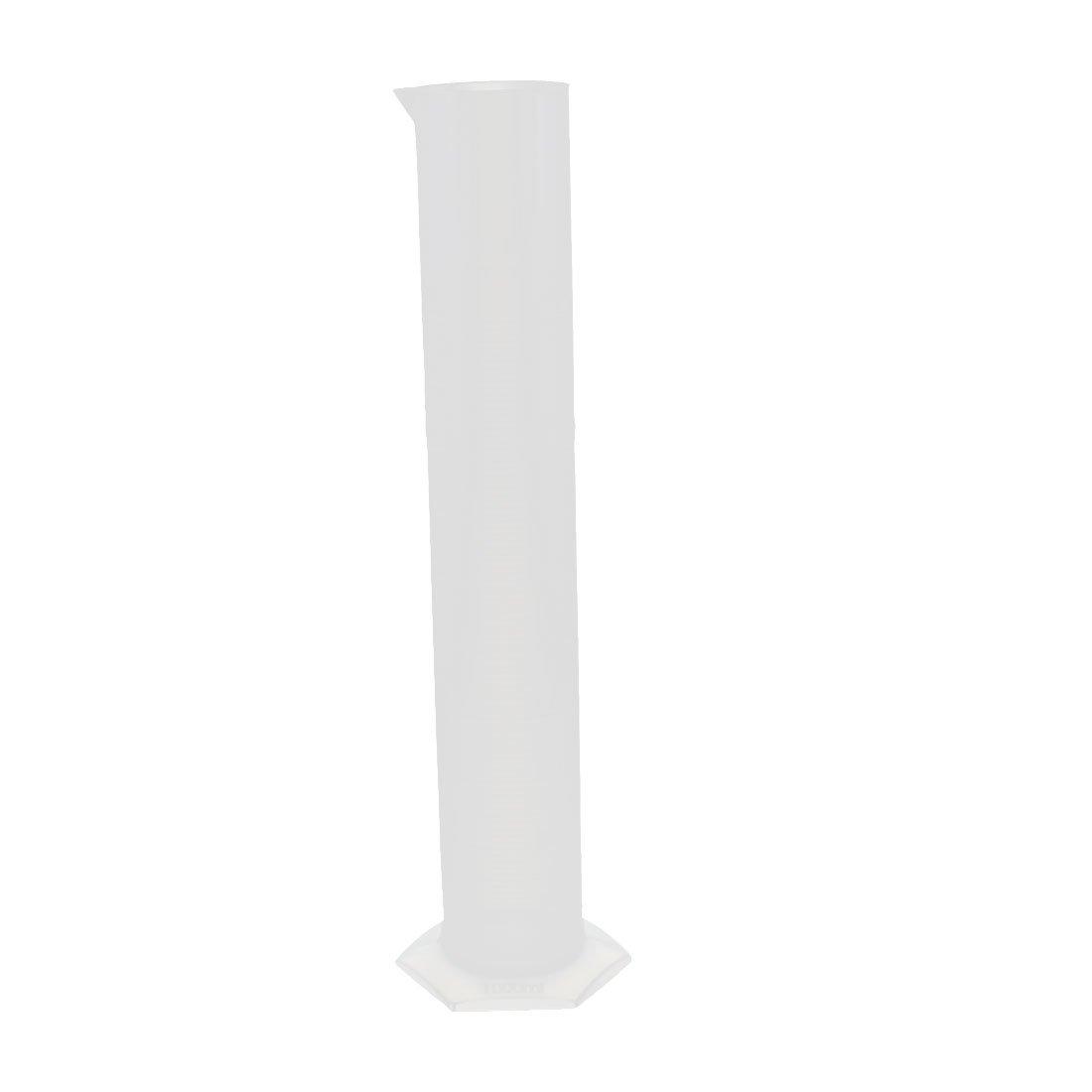 uxcell 1000mL Lab Hex Base Liquid Measurement Plastic Graduated Measuring Cylinder