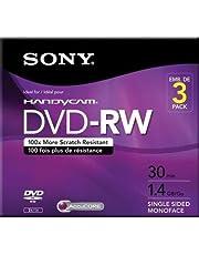 Sony 3DMW30R2HC - 3 x DVD-RW (8cm) - 1.4 GB ( 30min ) 1x - 2x