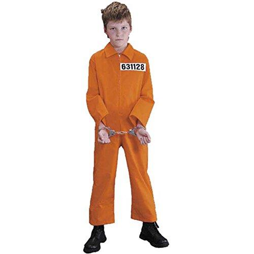 [Fun Plus Girls Convict Halloween Costume] (Jail Costume For Kids)