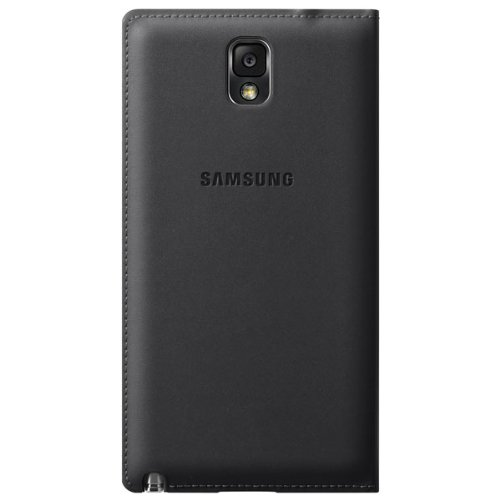 Samsung Galaxy Note 3 Case S View Flip Cover Folio - Black