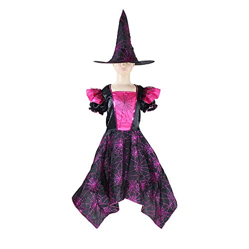 Girls Princess Spider Queen Vampire Halloween Costume Cosplay Party Outfit-Princess(4-6 Year) ()