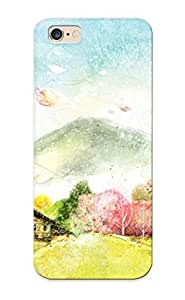 Case For Iphone 6 Plus Tpu Phone Case Cover(house In The Mountains ) For Thanksgiving Day's Gift