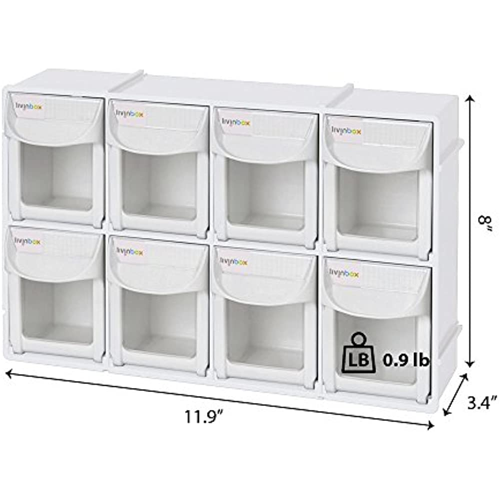 "Livinbox 12"" Tip Out Bin System With 8 Drawers Stackable"