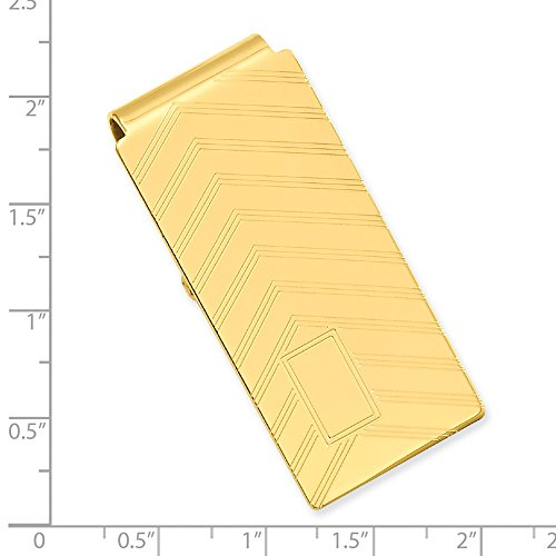 Waters Kelly Hinged Engraveable inch 00 Clip; Gold 2 Angles plated Money ECxxqa